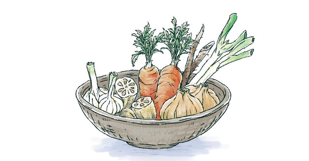 体を温める根菜類