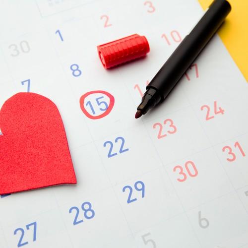 生理不順を表すカレンダー